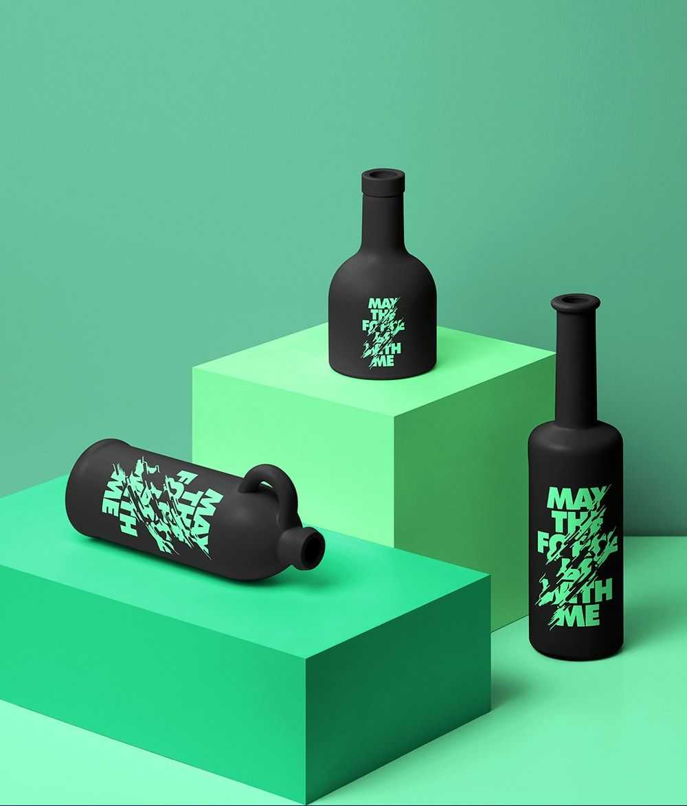 Diseño Botellas en Céramica